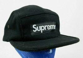 Supreme Black Military 5 Panel Baseball Cap Hat  - $89.99