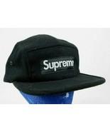 Supreme Black Military 5 Panel Baseball Cap Hat  - $89.99