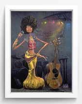 Guitar boy Art oil painting printed on canvas home decor - $14.99