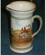 Antique Royal Doulton Seriesware Countryside Jug Pitcher Concord shape D... - $184.29