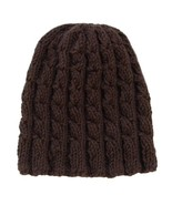 Closet Values Toddler Boys Size 2T Brown Cable Beanie Knit Hat  - $7.99