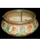 Circa 1938 Roseville Pottery DAHLROSE PATTERN Hanging Basket  - $247.49