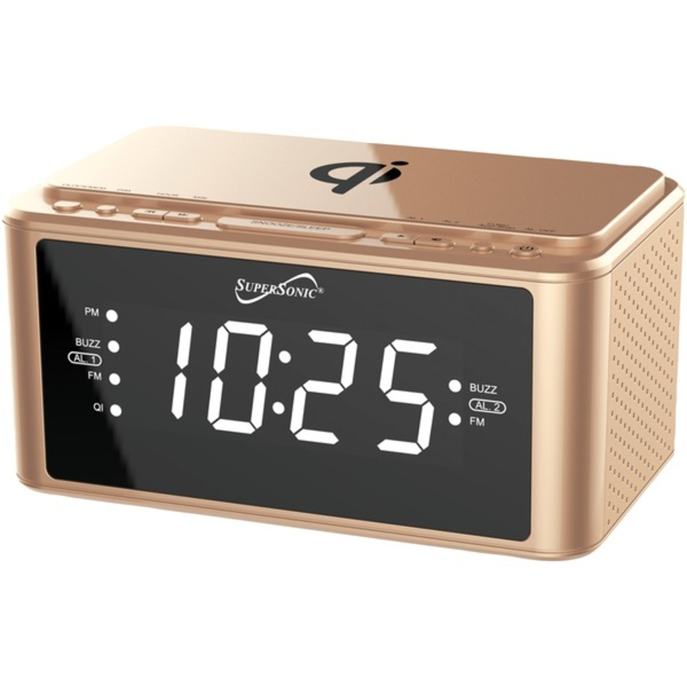 Primary image for Supersonic SC-6030QI-GD Clock Radio with Qi Wireless Charging Station (Gold)