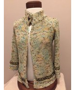 BCBG Maxazria Women's Cardigan Sweater S Beaded Embellished Career Butto... - $16.82