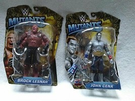 WWE Mutants Wrestling Figures Lot Set: Brock Lesnar & John Cena - $98.99