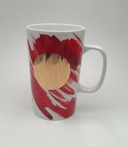 Starbucks 2014 Coffee Tea Cup Mug 16 Oz White Red Gold Dot Ceramic - $11.88