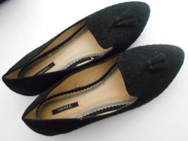 New Forever 21 Nine Black Suede Tassel Accent Slip Ons Ballet Flats Rock... - $13.34