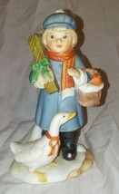 Vintage Homco Girl with Goose Figurine - $8.91