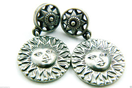 Ben Amun signed Sun Face danle earrings - $94.25