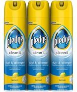 Pledge Dust & Allergen Multi-Surface Disinfectant Cleaner Spray Lemon 9.... - $29.69