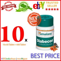 10x Himalaya Herbal Diabecon 60 Tablets Diabetic Natural Care Pack of 10x60 - $33.06