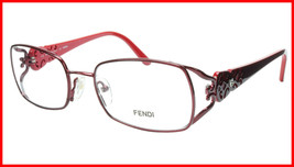 FENDI Eyeglasses Frame F872 (615) Metal Acetate Bordeaux Italy Made 52-1... - $177.57