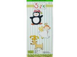 Sizzix Sizzlits Christmas Set 7 Dies #655523, 3 Dies image 1