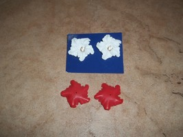 avon earrings holiday blossom convertable new in box.New lower price. - $8.00