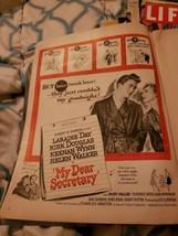 "1948 Vintage movie ad for ""My Dear Secretary"" Kirk Douglas Laraine Day R... - $9.90"