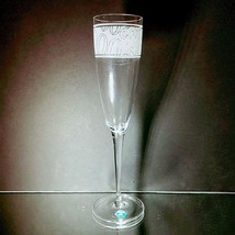 """1 (One)Tiffany & Co 2000 Millennium Lead Crystal Champagne Flute 9.25"""" - Signed - $23.74"""