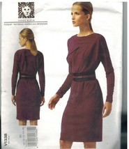 1338 UNCUT Vogue Sewing Pattern Misses Dress Loose Fitting Bodice Anne K... - $9.99