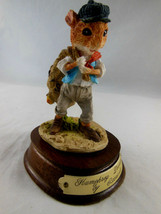 """Humphrey Dormouse with bag of nuts 4"""" from Little Nook Village by Leonar... - $6.92"""