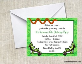 Reptile Lizards Birthday Party Invitations Personalized Custom - $0.99+