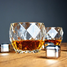Crystal Diamond Whiskey Glass Heavy Weight for Scotch Bourbon Cognac 10o... - $43.99