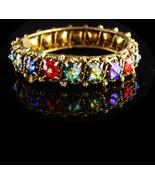 STUNNING Vintage Bracelet -Margarita florettes- Watermelon Clamper - Riv... - $225.00