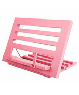 Annova Exerz Pink Reading Rest Cookbook Stand Recipe Text Book Holder Wo... - $23.07