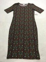 NWT Lularoe S Small Burgundy Mint Geo Floral Vine Julia Dress Womens New - $19.99