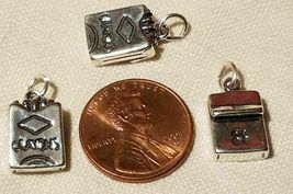 """FROM Cradle To College"" Sterling Silver Charms .925 You Choose image 8"