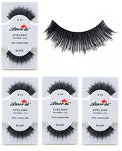 6 Pairs AmorUs 100% Human Hair False Eyelashes # 74 compare Red Cherry - $8.90