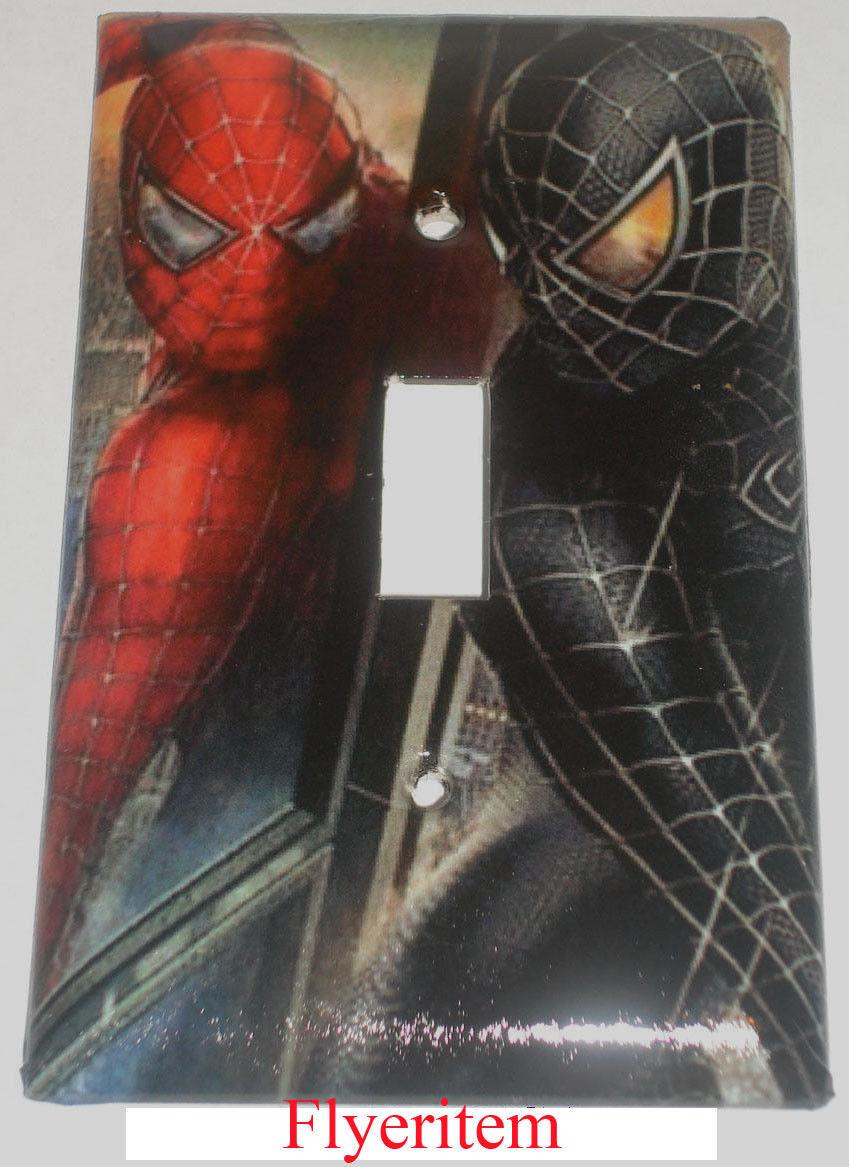 Spiderman black red big toggle single