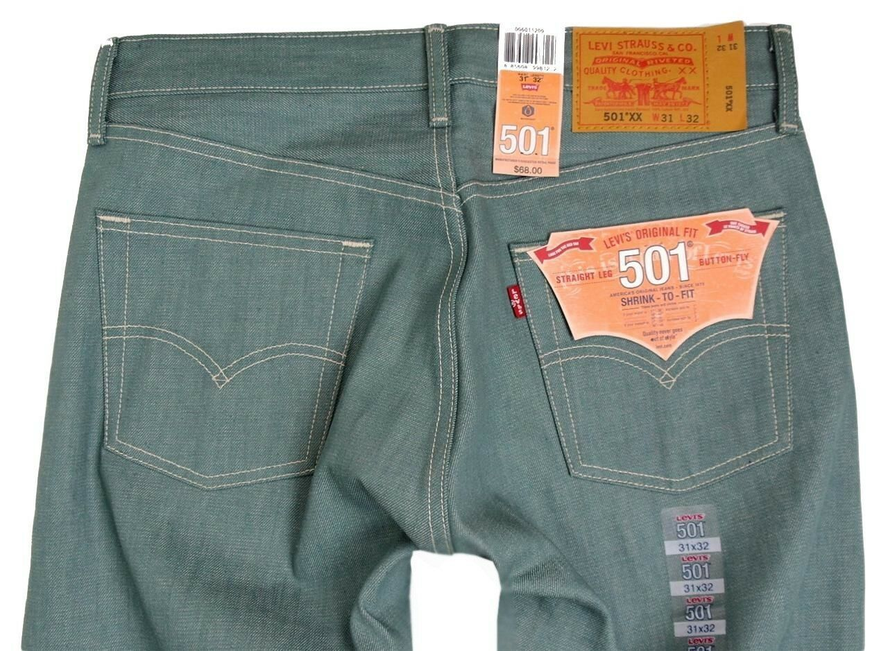 NEW NWT LEVI'S 501 MEN'S ORIGINAL FIT STRAIGHT LEG JEANS BUTTON FLY 501-1209