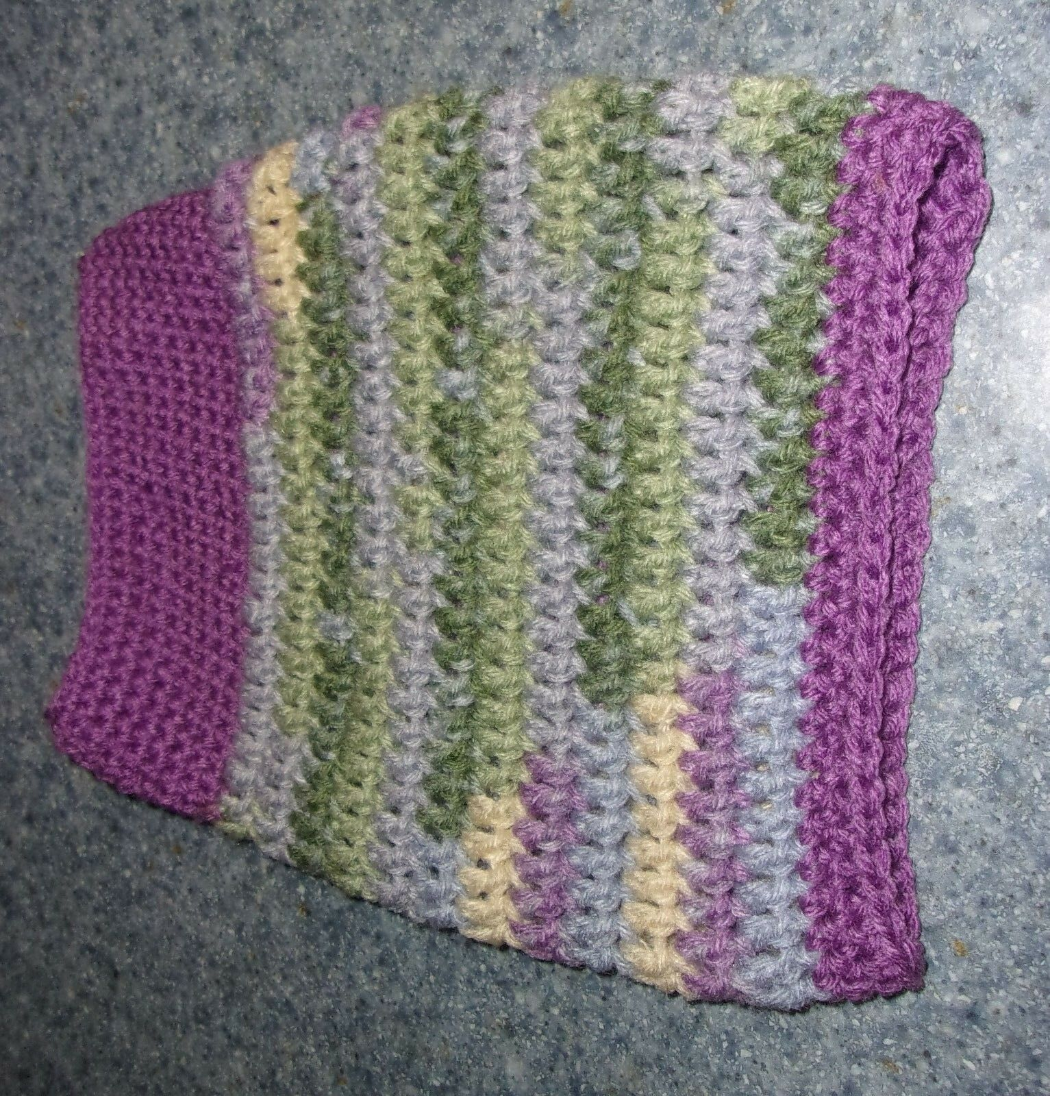 Brand New Hand Crocheted Purple Dog Snood Neck Warmer For Dog Rescue Charity