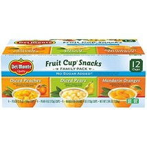Del Monte No Sugar Added Fruit Cup Variety Pack Peaches, Pears, Mandarin Oranges