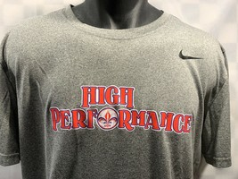 Nike Dri-Fit High Performance Gray T-Shirt Size L - $10.93