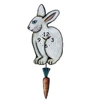 White Bunny Pendulum Wall Clock - $56.42