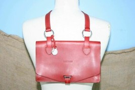 Dooney & Bourke Red Leather Envelope Messenger Handbag EUC - $92.99