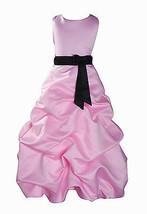 Per Bambina Da Festa Damigella Vestito Per Spettacolo 1-13 Y Rosa+Fascia image 2