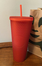 Starbucks Valentine 2021 Limited Edition Matte Red Studded Tumbler Cup 2... - $34.30