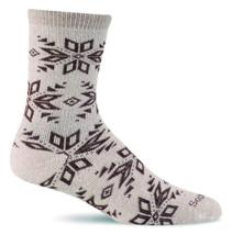 Size M/L Sockwell Women's Socks Winterlust Snowflake Patterned Hiker Crew Sock