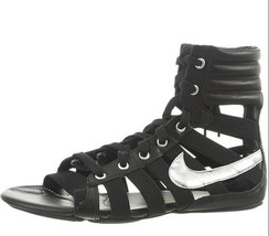 NIB NIKE WOMEN'S GLADIATEUR II SANDALS SNEAKERS  BLACK/METALLIC SILVER-B... - $89.99