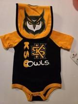 KSU KENNESAW State University OWLS Yellow Adidas Shirt NEW Large L  - $16.48