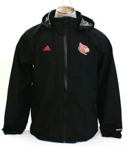Adidas Black Louisville Cardinals 470 Gore-Tex Zip Front Hooded Rain Jac... - $338.24
