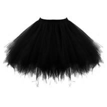 Honeystore Women's Short Vintage Ballet Bubble Puffy Tutu Petticoat Skir... - $26.57