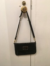 MARC JACOBS Black Leather Crossbody / Shoulder Clutch Bifold Bag - $87.08