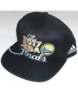NEW 2017 NBA FINALS DUBS GOLDEN STATE WARRIORS ADULT OSFA BLK FLAT BRIM ... - $34.91