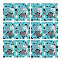 InterestPrint Dinosaurs and Paws Washable Polyester Fabric Placemat Plat... - €35,13 EUR