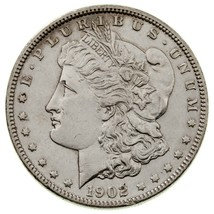 1902 Silver Morgan Dollar in AU+ Condition, Excellent Eye Appeal, Full L... - $64.15