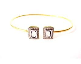 Pave Vintage Look 1.20C Rose Cut Diamond 925 Silver Polky Antique Bracel... - $198.33
