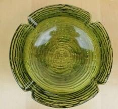 Emerald Green Glass SORENO ASHTRAY 4 rests Mid Century Modern Ash Tray 6... - $24.19
