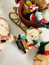 Vintage Santa Claus Christmas Ornament lot of 6 + frame, coca cola - $9.89